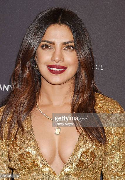 Actresssinger Priyanka Chopra attends The Weinstein Company and Netflix Golden Globe Party presented with FIJI Water Grey Goose Vodka Lindt Chocolate...