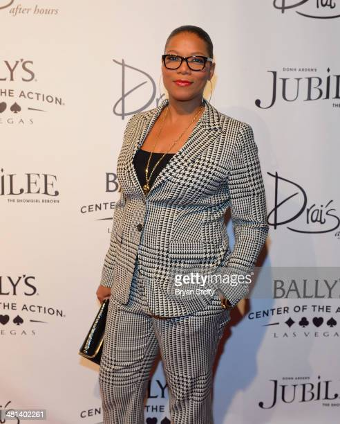 Actress/singer Queen Latifah arrives at the 'Jubilee' show's grand reopening at Ballys Las Vegas on March 29 2014 in Las Vegas Nevada