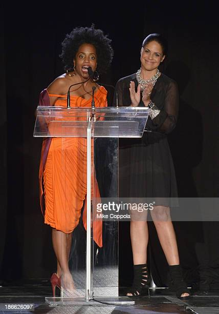 Actress/singer Rhonda Ross and television journalist Soledad OBrien speak at the 17th annual Hearts of Gold gala at Metropolitan Pavillion on...