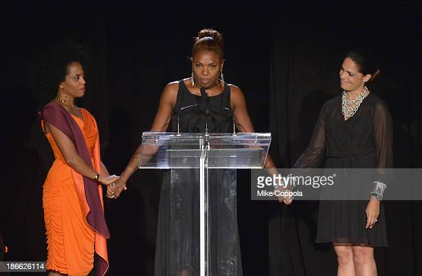 Actress/singer Rhonda Ross Hearts of Gold founder Deborah Koenigsberger and television journalist Soledad OBrien speak at the 17th annual Hearts of...