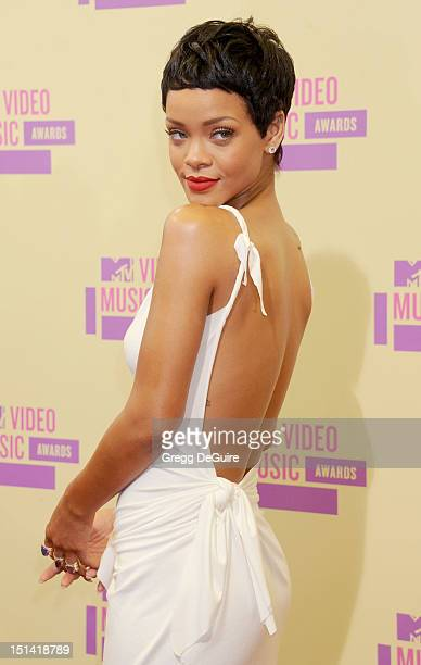 Actress/singer Rihanna arrives at 2012 MTV Video Awards at Staples Center on September 6, 2012 in Los Angeles, California.