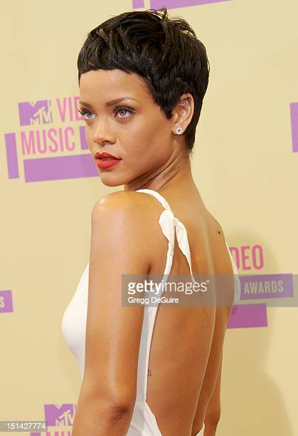 Actress/singer Rihanna arrives at 2012 MTV Video Awards at Staples Center on September 6 2012 in Los Angeles California