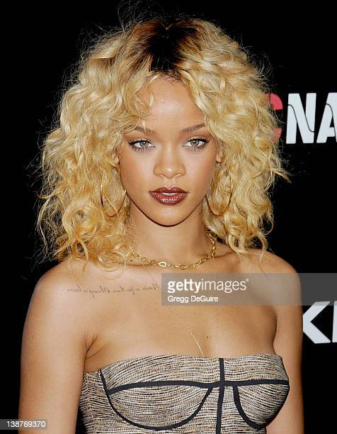 Actress/singer Rihanna arrives at Roc Nation PreGrammy Brunch at Soho House on February 11 2012 in West Hollywood California
