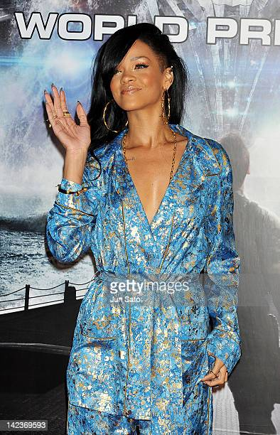 Actress/singer Rihanna attends the 'Battleship' World premier at Yoyogi National Gymnasium on April 3 2012 in Tokyo Japan The film will open on April...
