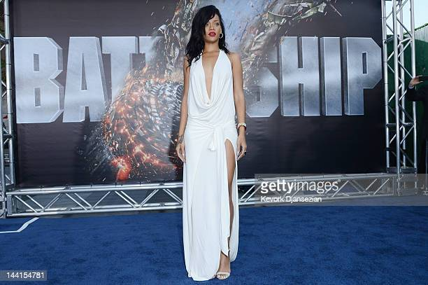 Actress/Singer Rihanna attends the Los Angeles premiere of Battleship at Nokia Theatre LA Live on May 10 2012 in Los Angeles California