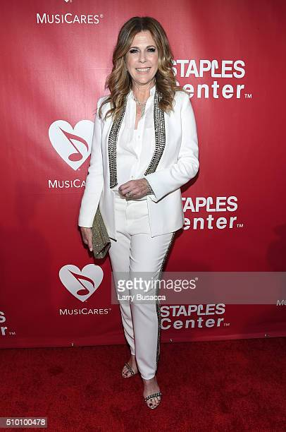 Actresssinger Rita Wilson attends the 2016 MusiCares Person of the Year honoring Lionel Richie at the Los Angeles Convention Center on February 13...