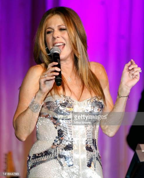 Actress/singer Rita Wilson performs onstage during Muhammad Ali's Celebrity Fight Night XVIII held at JW Marriott Desert Ridge Resort & Spa on March...