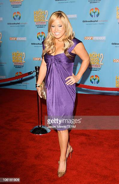 Actress/singer Sabrina Bryan pose at the DVD release of Disney Channels' 'High School Musical 2 Extended Edition' at The El Capitan Theatre on...