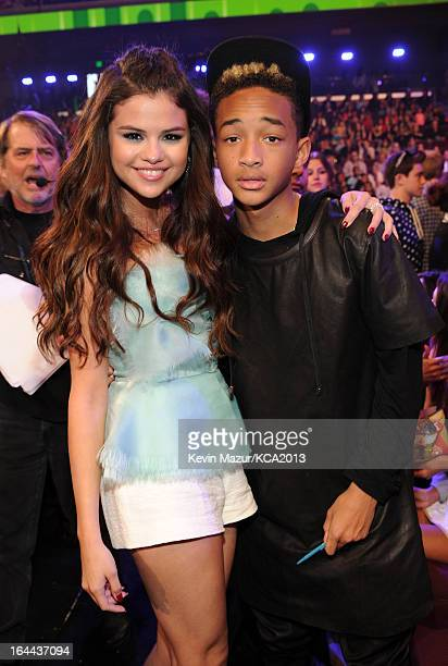 Actress/singer Selena Gomez and actor Jaden Smith attend Nickelodeon's 26th Annual Kids' Choice Awards at USC Galen Center on March 23 2013 in Los...
