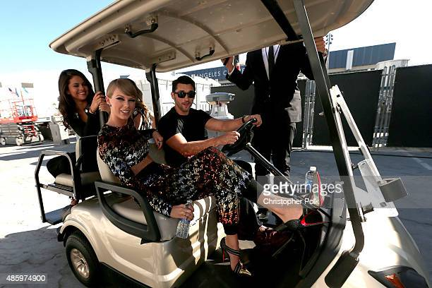 Actress/singer Selena Gomez and recording artist Taylor Swift attend the 2015 MTV Video Music Awards at Microsoft Theater on August 30 2015 in Los...