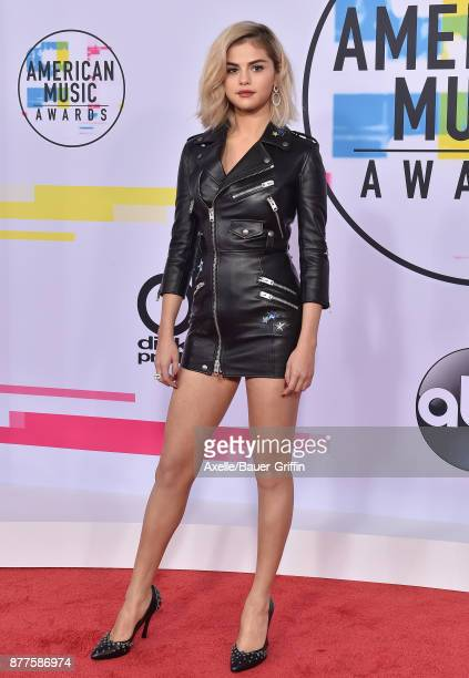 Actress/singer Selena Gomez arrives at the 2017 American Music Awards at Microsoft Theater on November 19 2017 in Los Angeles California