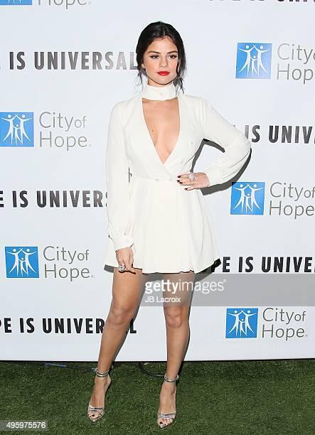 Actress/singer Selena Gomez attends City Of Hope's 2015 Spirit Of Life Gala at Santa Monica Civic Auditorium on November 5 2015 in Santa Monica...