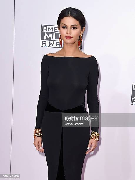 Actress/singer Selena Gomez attends the 2014 American Music Awards at Nokia Theatre LA Live on November 23 2014 in Los Angeles California
