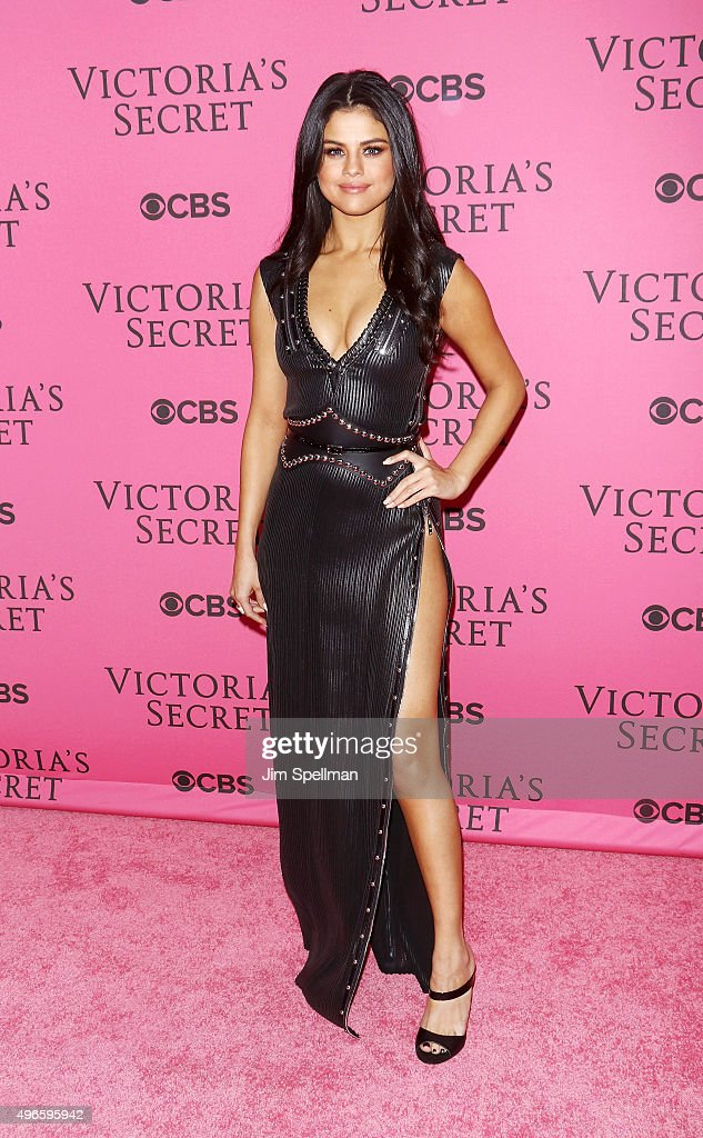 Actress/singer Selena Gomez attends the 2015 Victoria's Secret Fashion Show pink carpet arrivals at Lexington Armory on November 10, 2015 in New York City.
