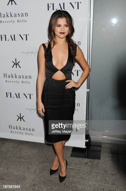 Actress/singer Selena Gomez attends the Flaunt Magazine Issue Party with Selena Gomez And Amanda De Cadenet held at Hakkasan Beverly Hills on...