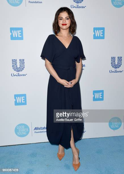 Actress/singer Selena Gomez attends WE Day California at The Forum on April 19 2018 in Inglewood California