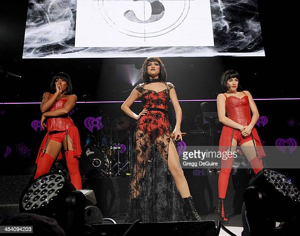 Actress/singer Selena Gomez performs at KIIS FM's Jingle Ball at Staples Center on December 6 2013 in Los Angeles California