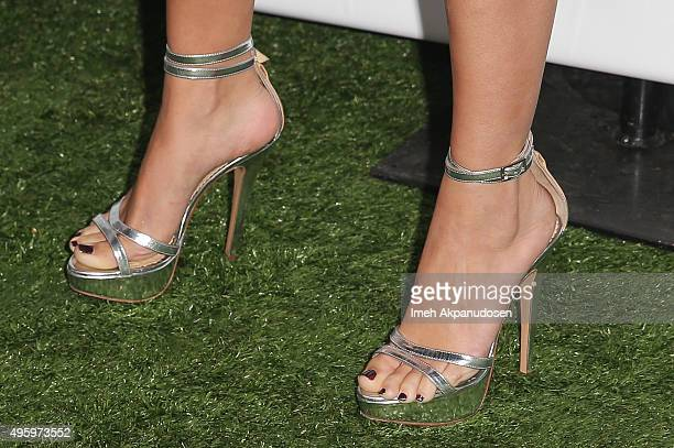 Actress/singer Selena Gomez shoe detail attends City Of Hope's 2015 Spirit Of Life Gala at Santa Monica Civic Auditorium on November 5 2015 in Santa...