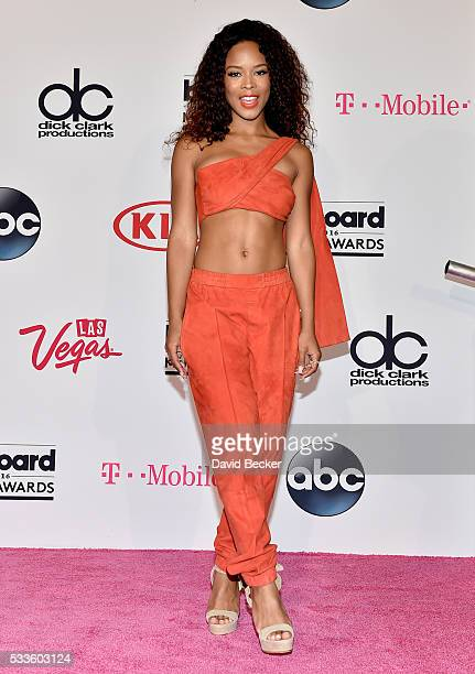 Actress/singer Serayah poses in the press room during the 2016 Billboard Music Awards at TMobile Arena on May 22 2016 in Las Vegas Nevada