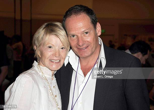 Actress/singer Shani Wallis and actor Mark Lester of Oliver attend The Hollywood Show held at Westin LAX Hotel on April 20 2013 in Los Angeles...