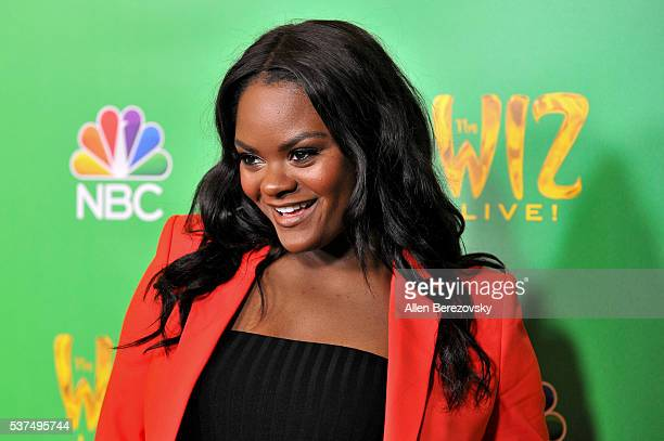 Actress/singer Shanice Williams attends the Television Academy Event for NBC's The Wiz Live at Director's Guild Of America on June 1 2016 in West...