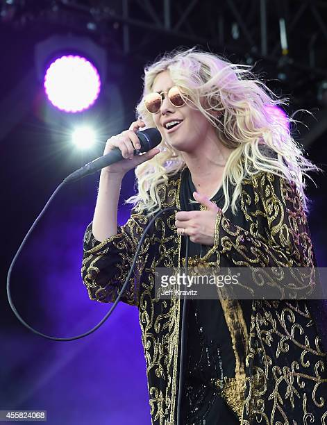 Actress/singer Taylor Momsen of The Pretty Reckless performs onstage during the 2014 iHeartRadio Music Festival Village on September 20 2014 in Las...