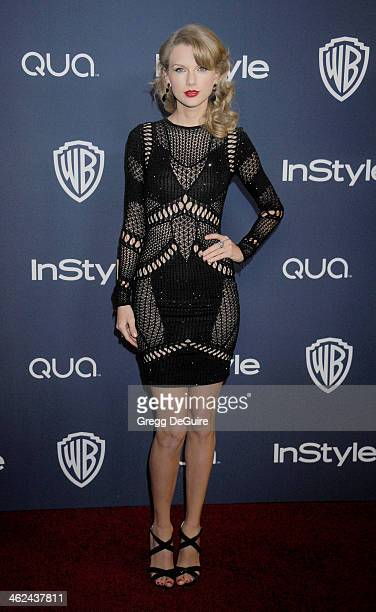 Actress/singer Taylor Swift arrives at the 2014 InStyle And Warner Bros 71st Annual Golden Globe Awards postparty at The Beverly Hilton Hotel on...