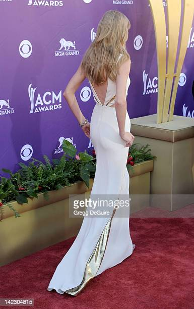 Actress/singer Taylor Swift arrives at the 47th Annual Academy Of Country Music Awards at MGM Grand Garden Arena on April 1 2012 in Las Vegas Nevada