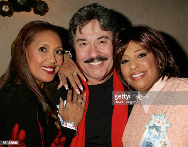 Actress/singer Telma Hopkins and singers Tony Orlando and Joyce Vincent pose prior to riding in the 2005 Hollywood Christmas Parade on November 27...
