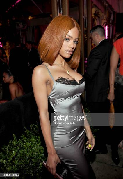 Actresssinger Teyana Taylor attends GQ and Chance The Rapper Celebrate the Grammys in Partnership with YouTube at Chateau Marmont on February 12 2017...