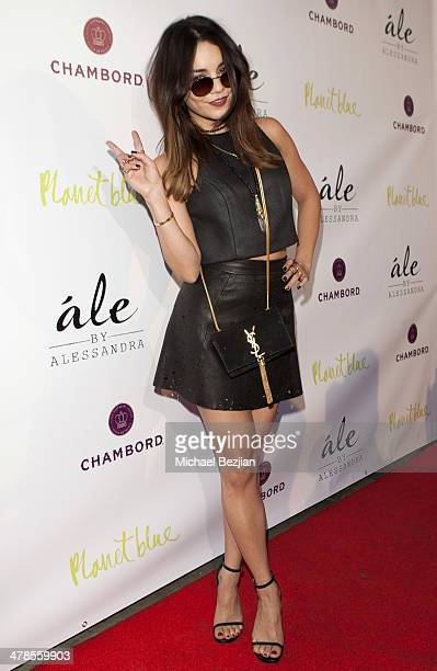 Actress/Singer Vanessa Hudgens arrives at Alessandra Ambrosio Launch of 'ale by Alessandra' at Planet Blue in Beverly Hills on March 13 2014 in Los...