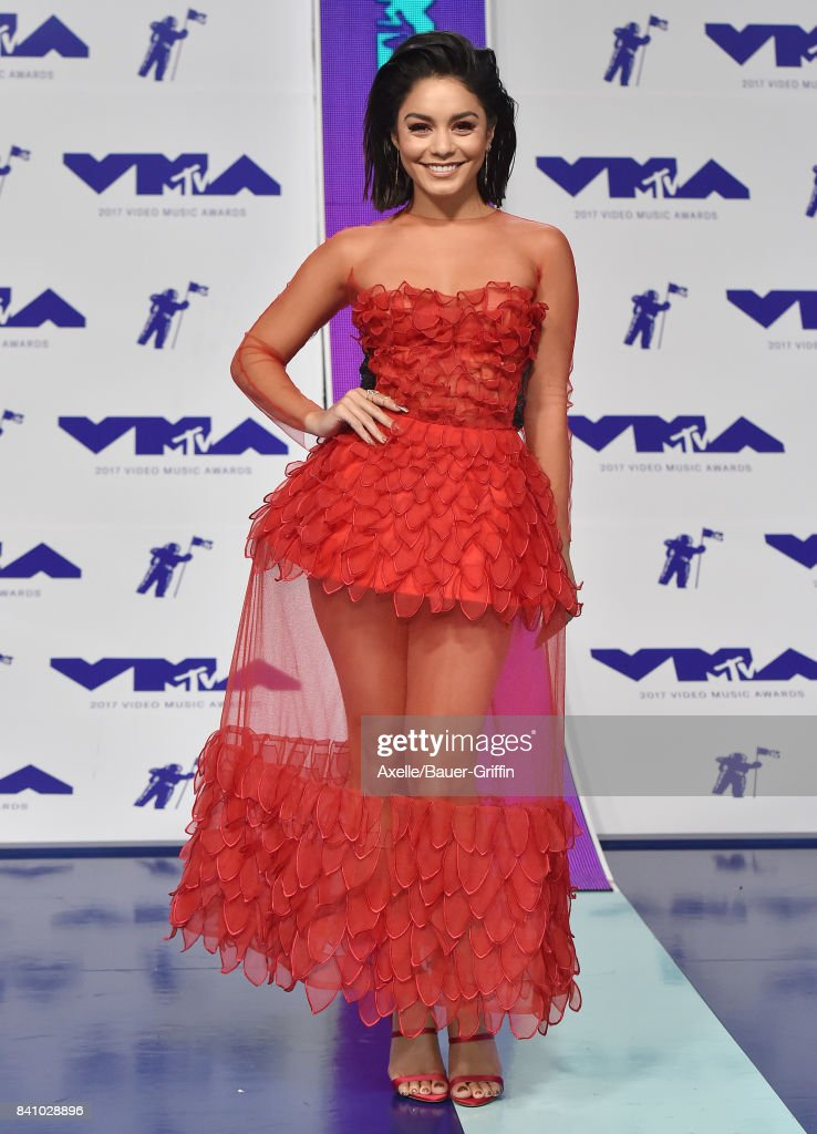 Actress/singer Vanessa Hudgens arrives at the 2017 MTV Video Music Awards at The Forum on August 27, 2017 in Inglewood, California.