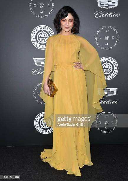 Actress/singer Vanessa Hudgens arrives at The Art of Elysium's 11th Annual Celebration Heaven at Barker Hangar on January 6 2018 in Santa Monica...