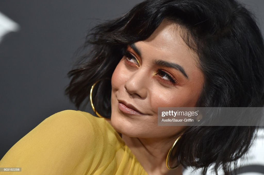 Actress/singer Vanessa Hudgens arrives at The Art of Elysium's 11th Annual Celebration - Heaven at Barker Hangar on January 6, 2018 in Santa Monica, California.