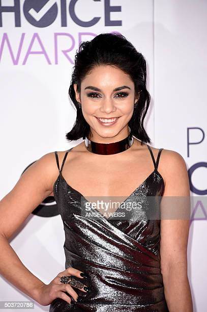 Actress/singer Vanessa Hudgens arrives at the People's Choice Awards 2016 at Microsoft Theater in Los Angeles California on January 6 2016 AFP PHOTO...
