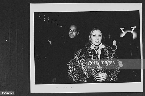 Actress/singer Vanessa L Williams w her publicist husband Ramon Hervey arriving at theater for the screening of the movie Malcolm X