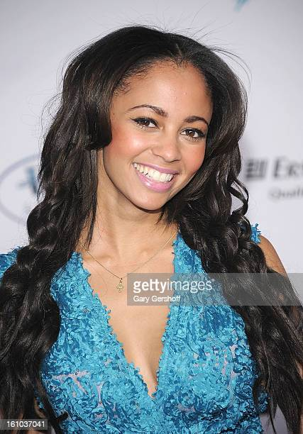 Actress/singer Vanessa Morgan attends The Inaugural International Emmy Kids Awards at The Lighthouse at Chelsea Piers on February 8 2013 in New York...
