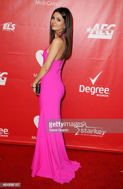 Actresssinger Victoria Justice attends 2014 MusiCares Person Of The Year Honoring Carole King at Los Angeles Convention Center on January 24 2014 in...