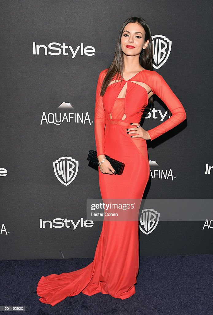 Actress/singer Victoria Justice attends InStyle and Warner Bros. 73rd Annual Golden Globe Awards Post-Party at The Beverly Hilton Hotel on January 10, 2016 in Beverly Hills, California.