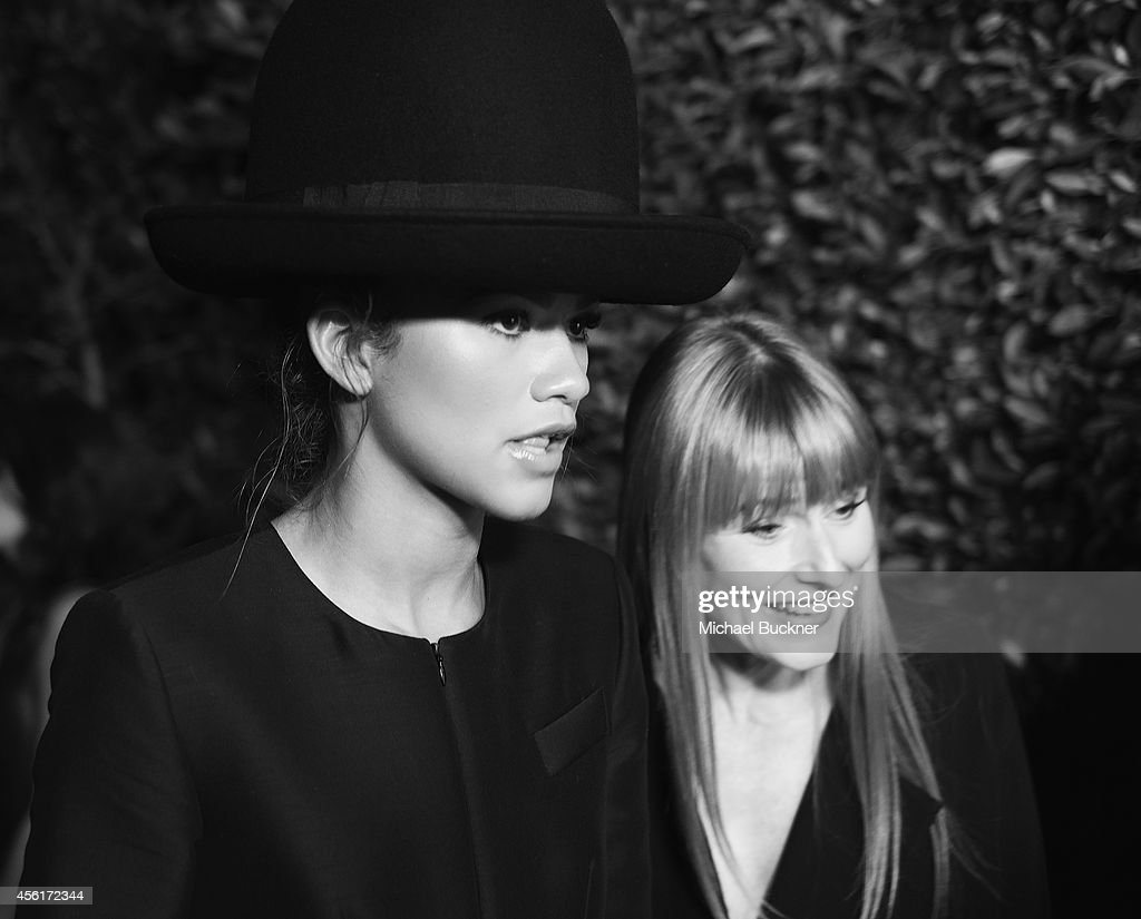 Actress/Singer Zendaya (L) and Amy Astley, editor-in-chief of Teen Vogue, attends the 12th Annual Teen Vogue Young Hollywood Party with Emporio Armani at a private residence on September 26, 2014 in Beverly Hills, California.