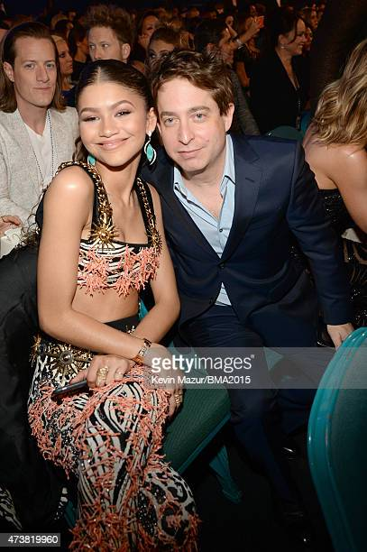 Actress/singer Zendaya and Executive Vice President of Republic Records Charlie Walk attend the 2015 Billboard Music Awards at MGM Grand Garden Arena...