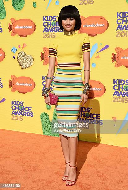 Actress/singer Zendaya arrives at Nickelodeon's 28th Annual Kids' Choice Awards at The Forum on March 28 2015 in Inglewood California