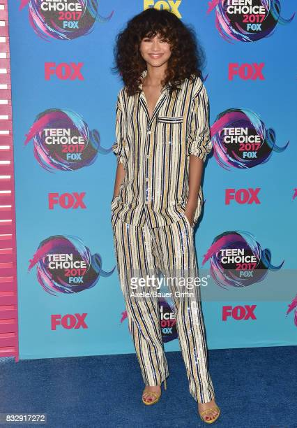 Actress/singer Zendaya arrives at the Teen Choice Awards 2017 at Galen Center on August 13 2017 in Los Angeles California