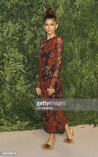 Actress/singer Zendaya attends the 12th annual CFDA/Vogue Fashion Fund Awards at Spring Studios on November 2 2015 in New York City