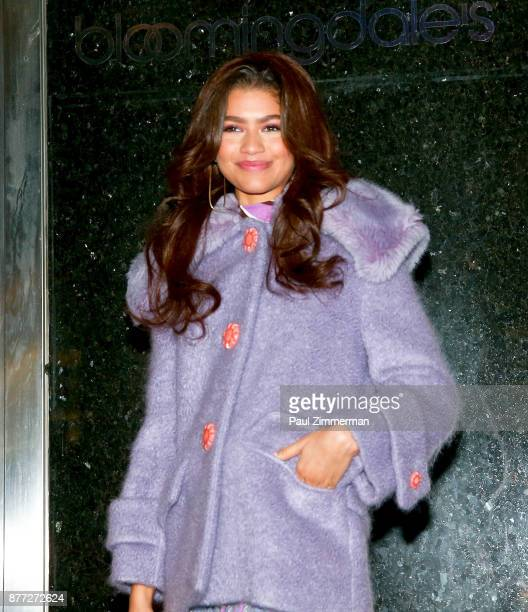Actress/singer Zendaya attends the 2017 Bloomingdale's Holiday Windows Unveiling at Bloomingdale's on November 21 2017 in New York City