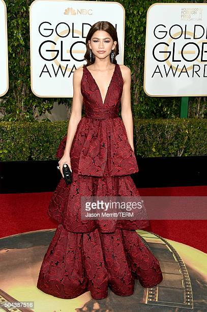 Actress/singer Zendaya attends the 73rd Annual Golden Globe Awards held at the Beverly Hilton Hotel on January 10 2016 in Beverly Hills California