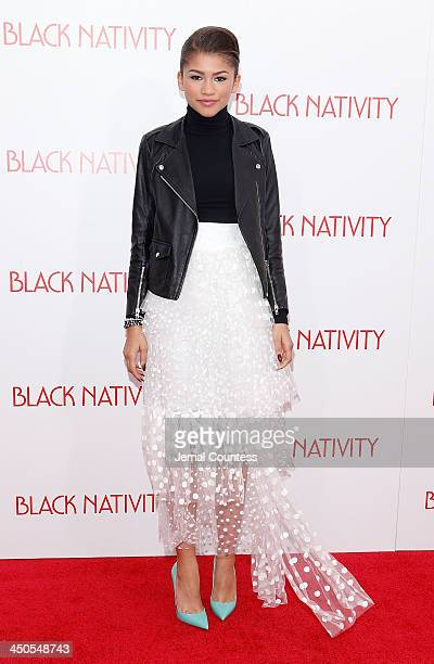 Actress/singer Zendaya attends the Black Nativity premiere at The Apollo Theater on November 18 2013 in New York City