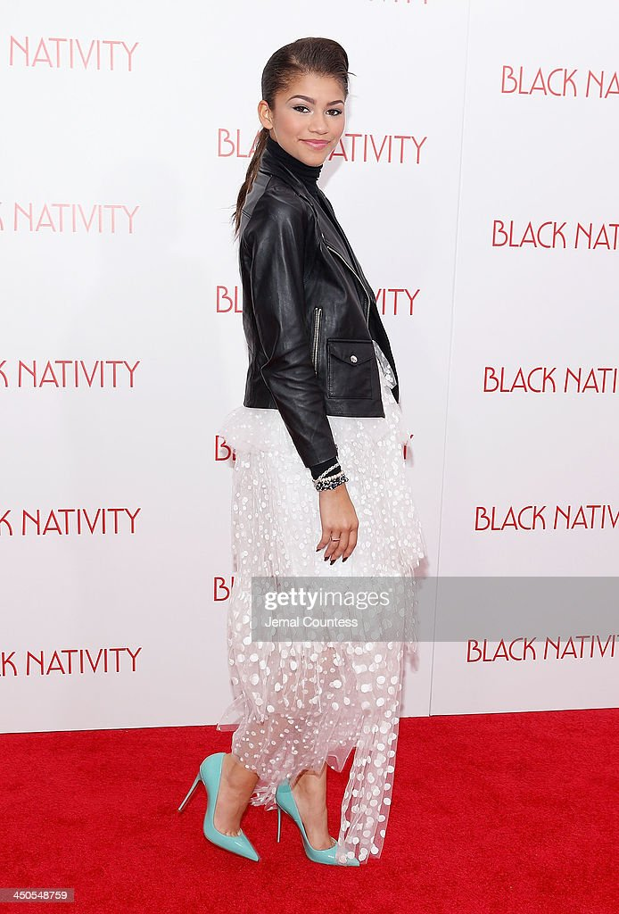 Actress/singer Zendaya attends the 'Black Nativity' premiere at The Apollo Theater on November 18, 2013 in New York City.
