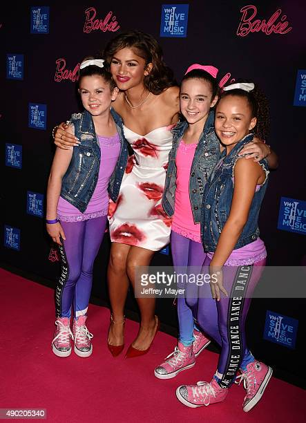 Actress/singer Zendaya Coleman and dancer Kaycee Rice attend the Barbie Rock 'N Royals Concert Experience at the Hollywood Palladium on September 26...