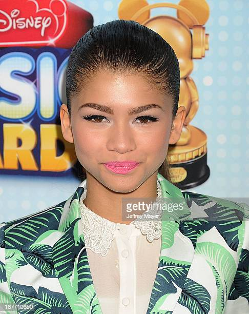 Actress/singer Zendaya Coleman arrives at the 2013 Radio Disney Music Awards at Nokia Theatre LA Live on April 27 2013 in Los Angeles California
